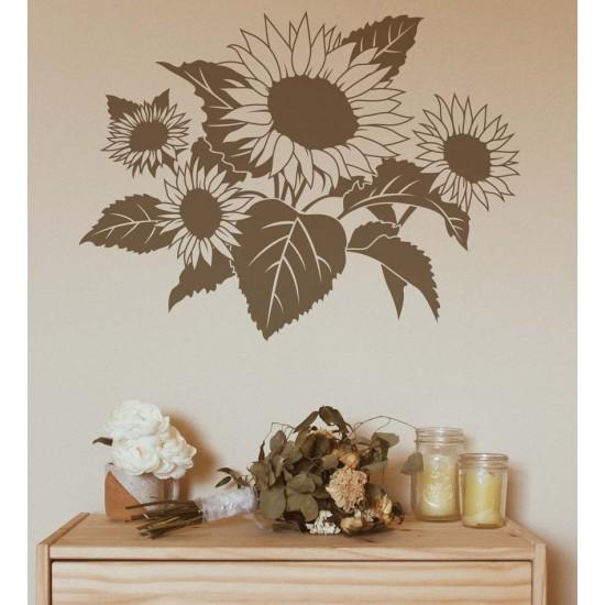 Слънчогледи - стикер за стена