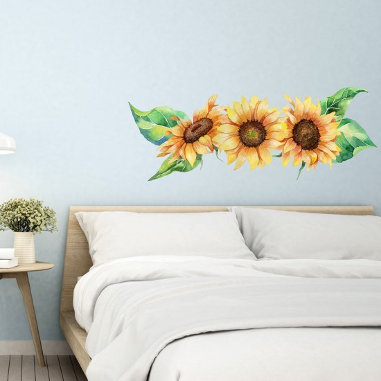 Акварелни слънчогледи