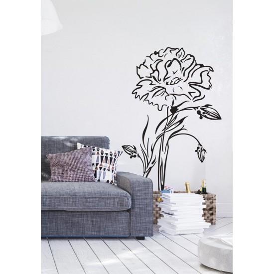 стикер за стена цветя карамфили