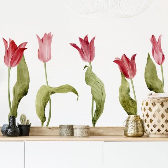 стикер с цветя лалета