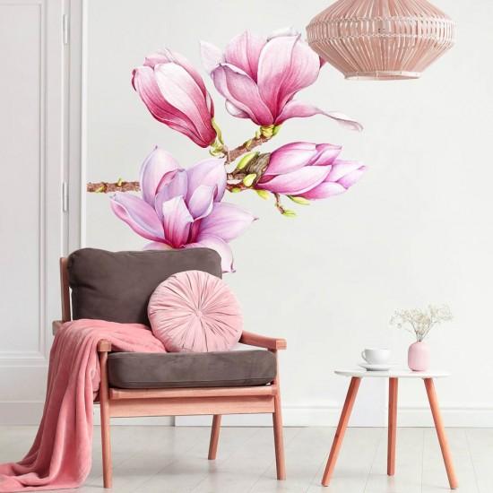 цвете магнолия - стикер за стена
