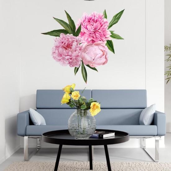 стикери цветя божури