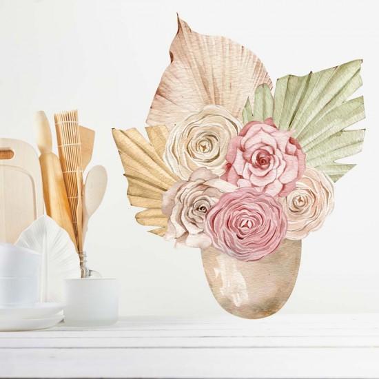 букет цветя стикер за стена