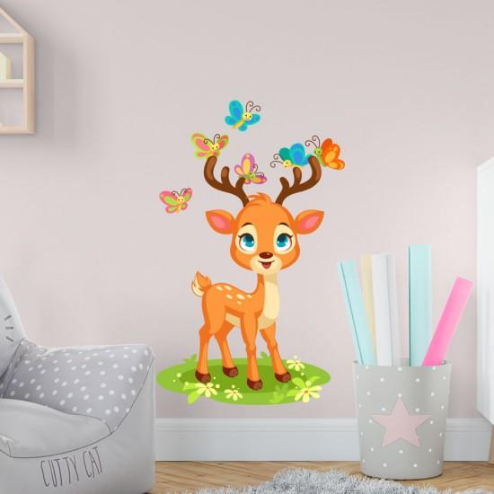 детски стикер за стена еленче