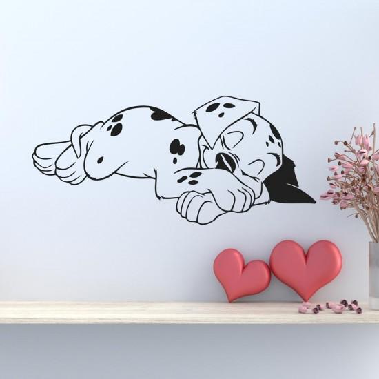 стикер за стена Спящо малко кученце