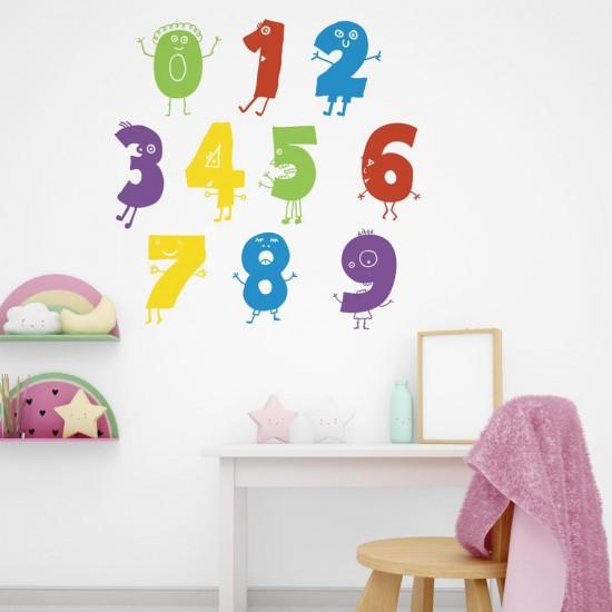 цифри за лепене на стена в детска стая