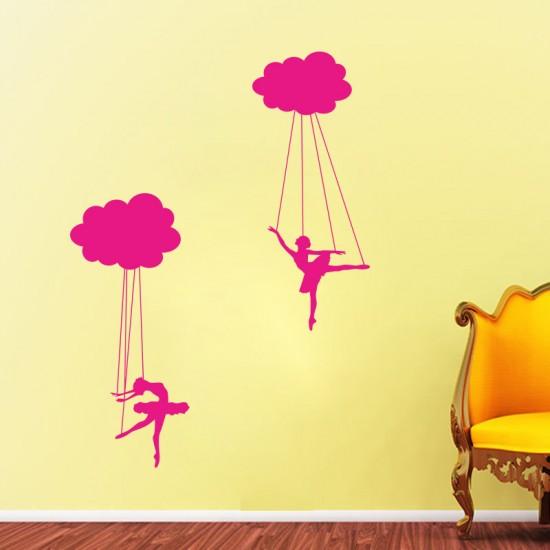 Малки балерини стикер за стена