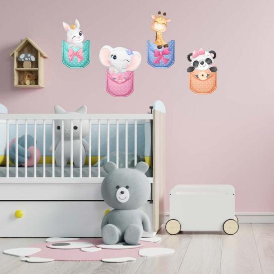 стикер за декорация на детска стая животинки