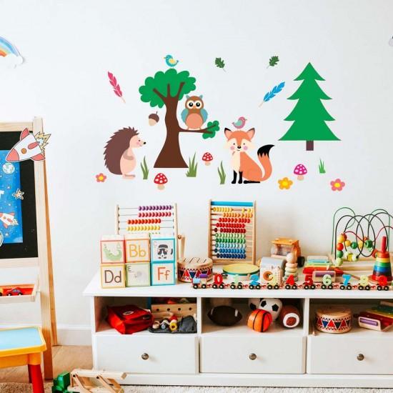 детски стикер с за стена с животни