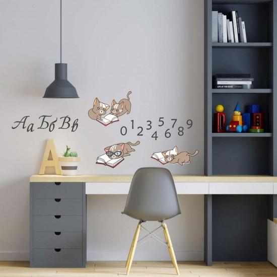 стикер котета ученици