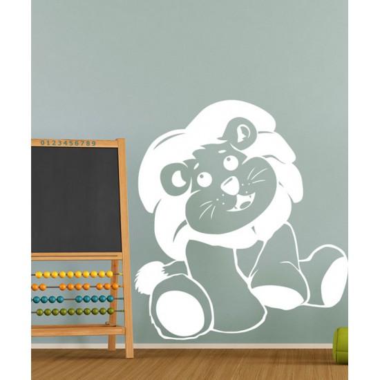Малко лъвче - детски стикер за стена