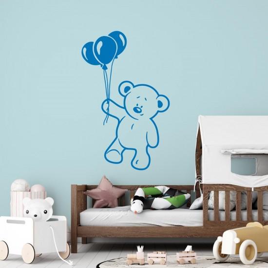 стикер за стена мече с балони