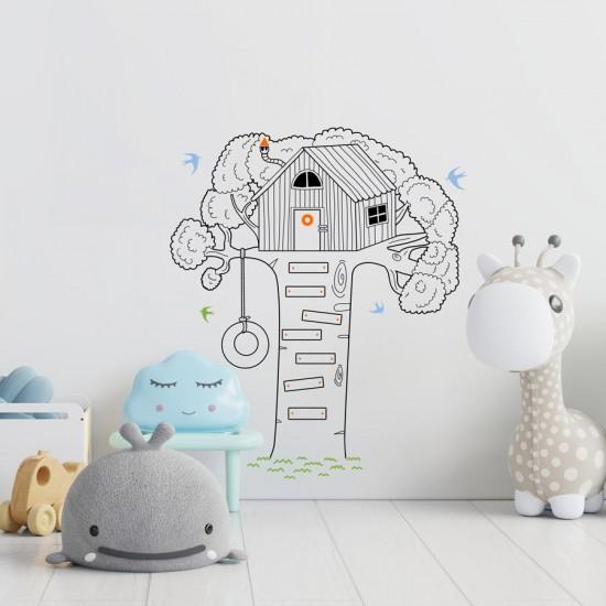 Детска къща на дърво - стикер за детска стая