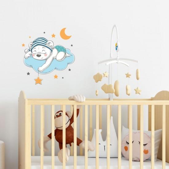 Мечо спинка - детски стикер за стена