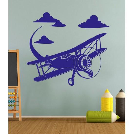 стикер за стена Ретро самолет