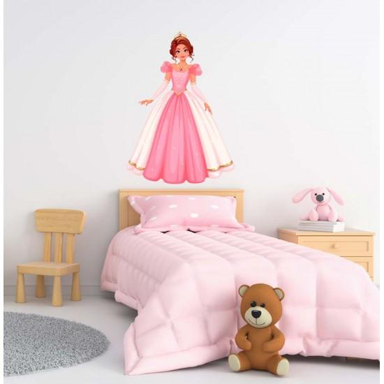 Приказен бал - стикер с принцеса за стена в детска стая