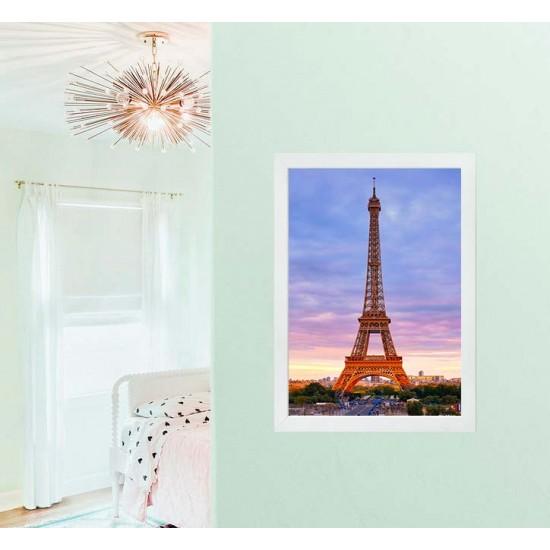 Париж Залез - Фото пано, Принт в рамка
