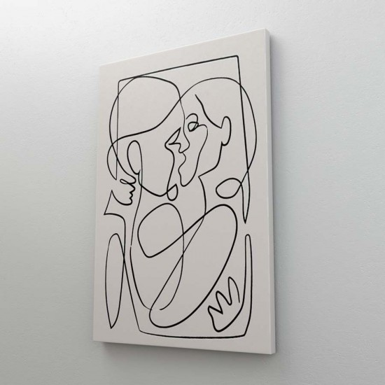 Целувка One-line - Арт пано