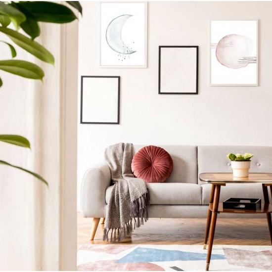 Слънце и Луна - диптих, комплект от 2 пана за стена