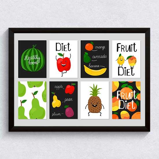 Плодова диета - постер, пано за кухня, бар, фреш-бар, хотел, заведение