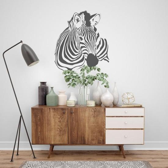 стикер за стена зебра