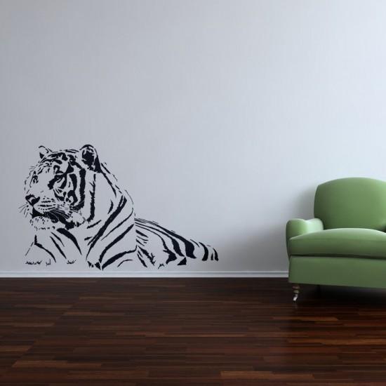 стикер за стена тигър