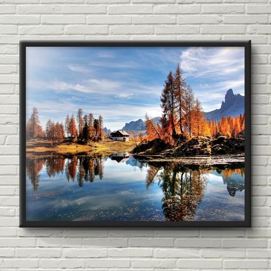 Доломитовите Алпи - Фото пано - Фото пано пейзаж от Италия, Картина - Принт в рамка