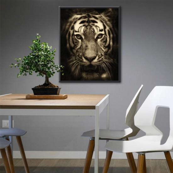 Тигър в нощта 2 - Фото арт, Фото пано, Картина - Принт в рамка