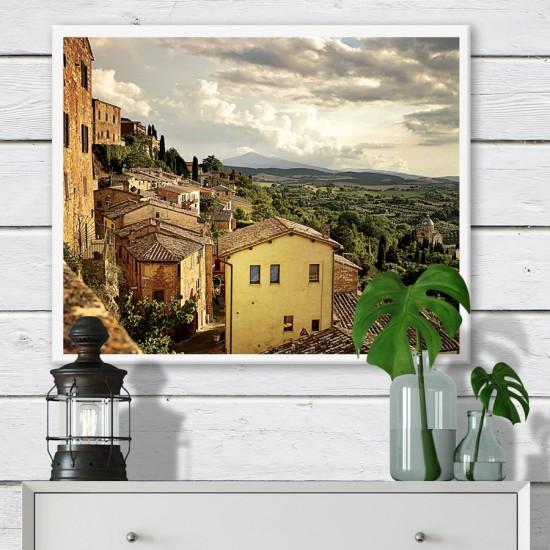 Безвремие в Тоскана - Фото пано - Фото пано пейзаж от Италия, Картина - Принт в рамка