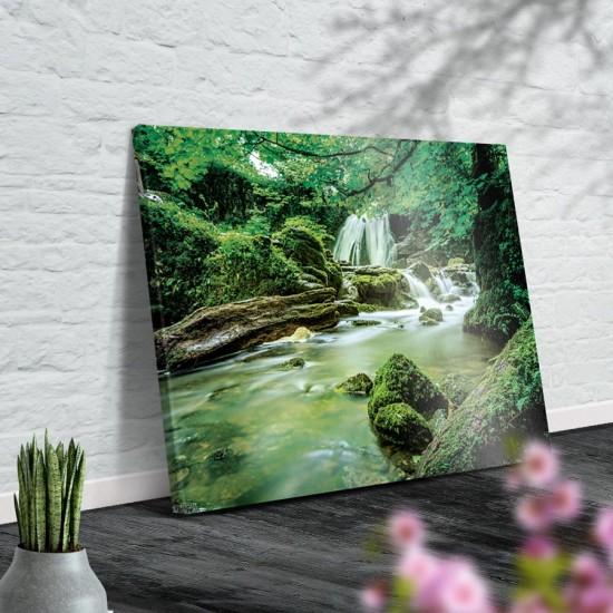 Магичен водопад - Фото пано, Картина - Принт в рамка