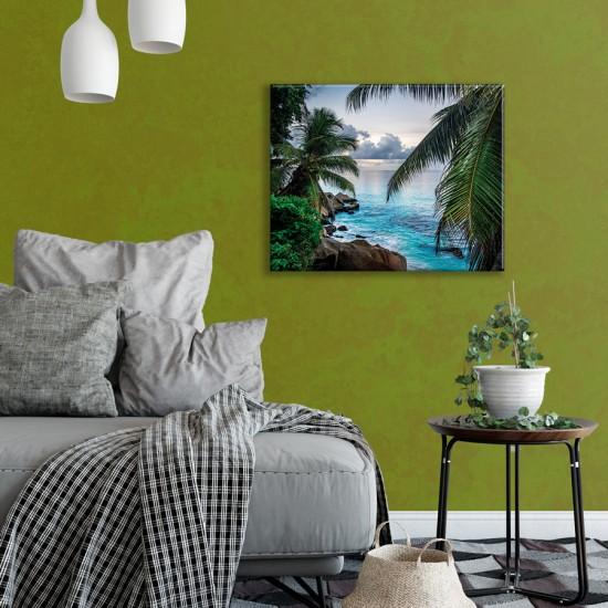 Екзотична гледка - Фото пано - Фото пано пейзаж от брега, Картина - Принт в рамка