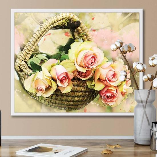 Българска роза - Фото арт, Картина, рамка, канава