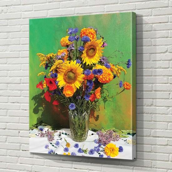 Лятно поле в една ваза  - Фото арт, модерен натюрморт, ваза с цветя