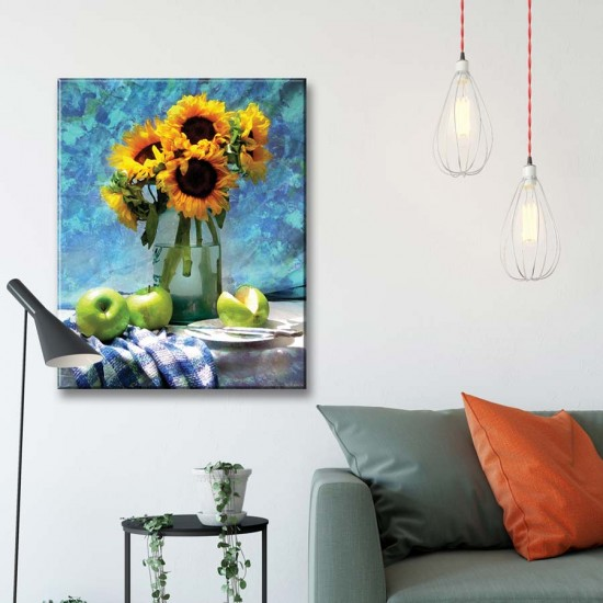 Слънчогледи с ябълки 2 - Арт пано, Картина