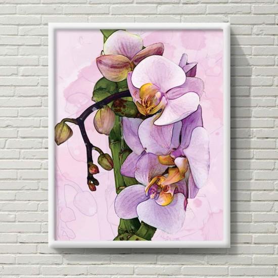 Орхидея Вертикал - Фото арт - картина за спалня