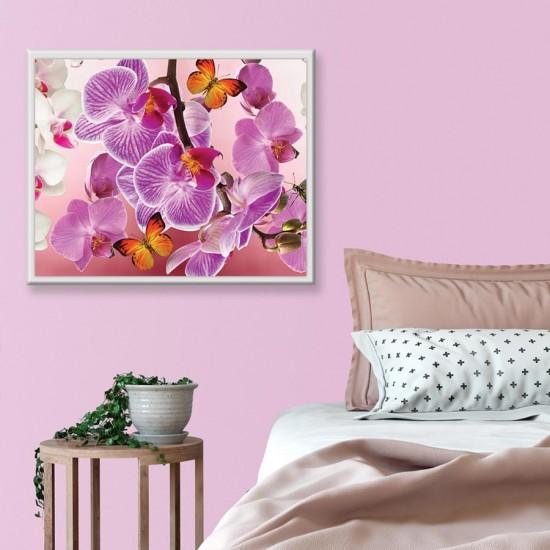 Картина Орхидеи с пеперуди