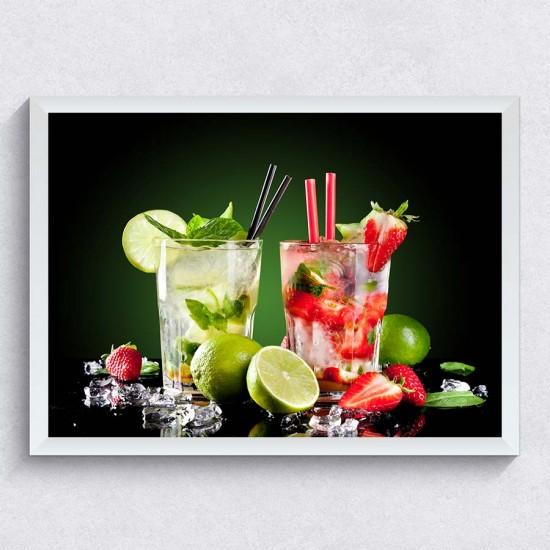Мохито Фрукти - Фото пано - картина за кухня, бар, хотел, заведение