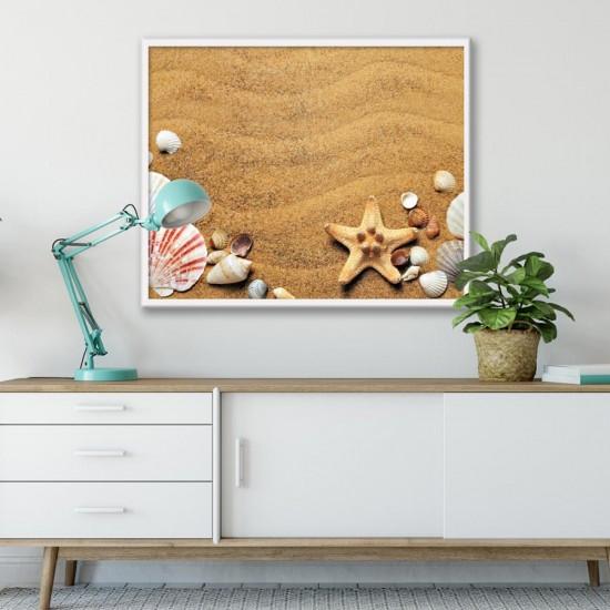Пясък с черупки - Фото пано - картина за баня, хотел, заведение
