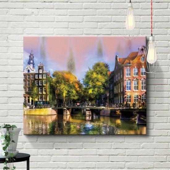 Амстердам - Арт пано, Картина - Принт в рамка