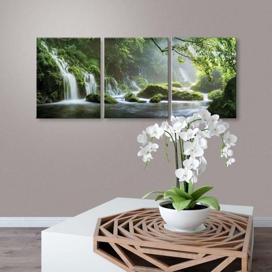Картина Водопад Хармония - триптих