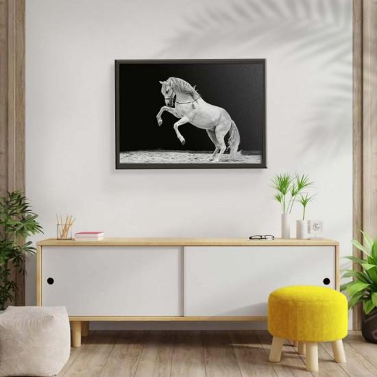 Белият кон - Картина - Принт в рамка
