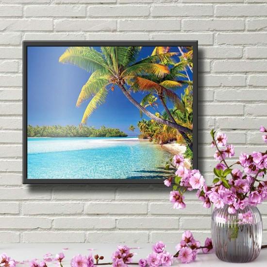картина Екзотичен плаж - Принт в рамка
