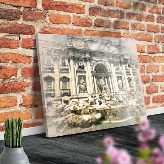 Картина Фонтан Треви Рим - Принт в рамка