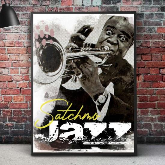 Картина, постер в рамка за стена Satchmo JAZZ