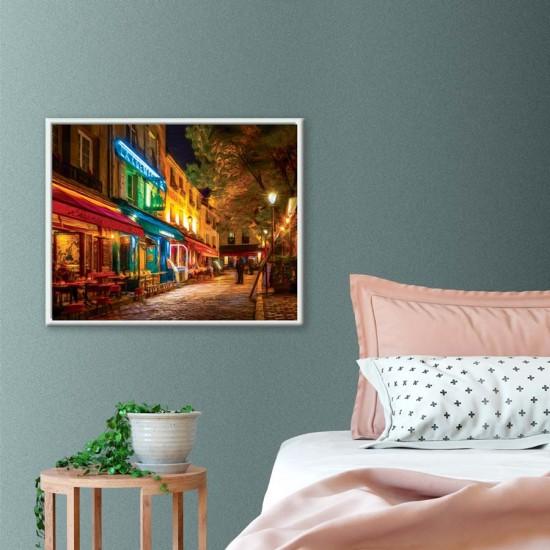 Нощна улица в Париж - Принт в рамка