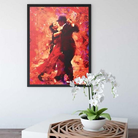 Огнен танц - Принт в рамка
