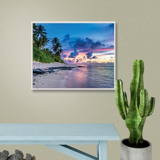 Далечен бряг - Фото пано, Картина - Принт в рамка