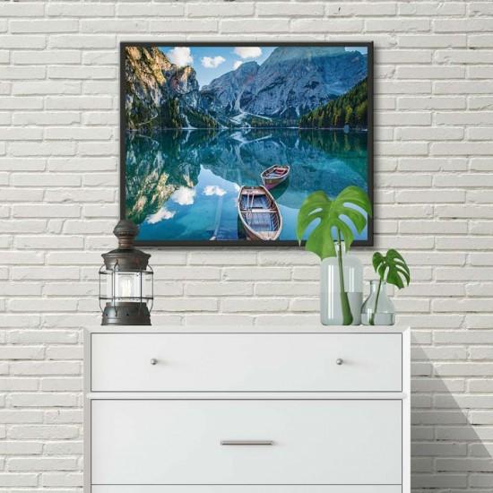 Картина с Планинско езеро - Принт в рамка