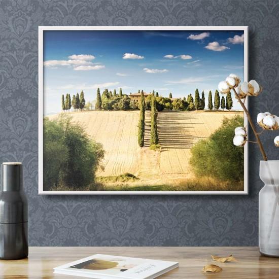 картина Слънцето на Тоскана - Принт в рамка