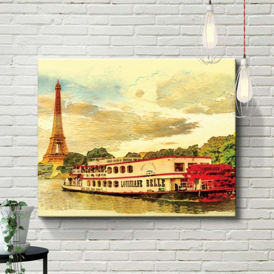 картина Разходка по Сена - Принт в рамка